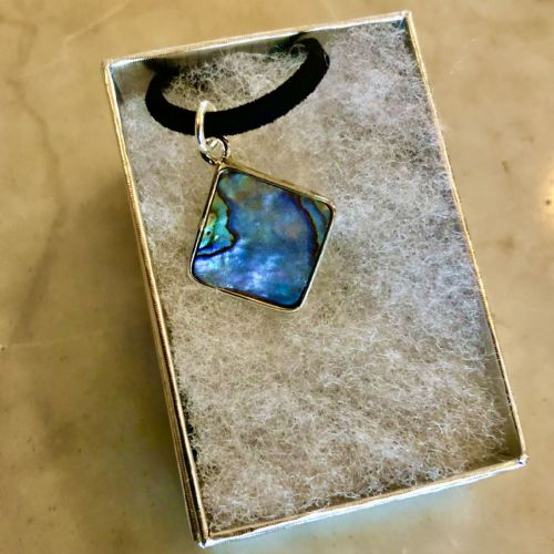 Paua Pendant Diamond Small PN04-S-D